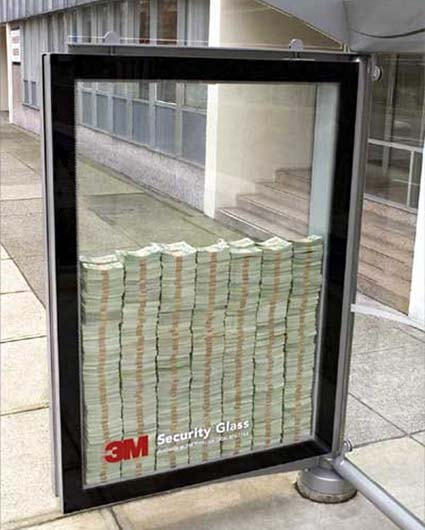 3M pubblicità vetri antisfondamento