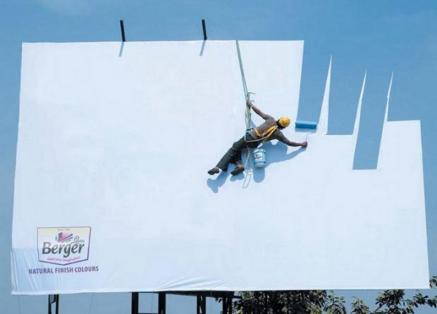 telo pubblicitario con particolare effetto cielo