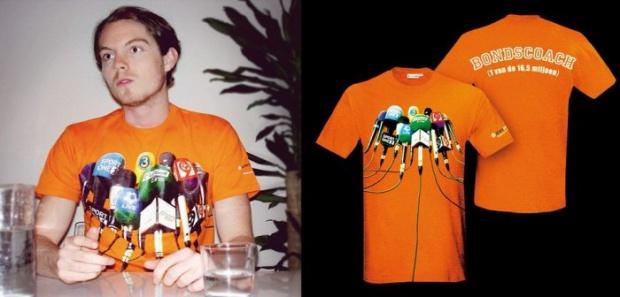 t-shirt con stampa termoadesiva microfoni