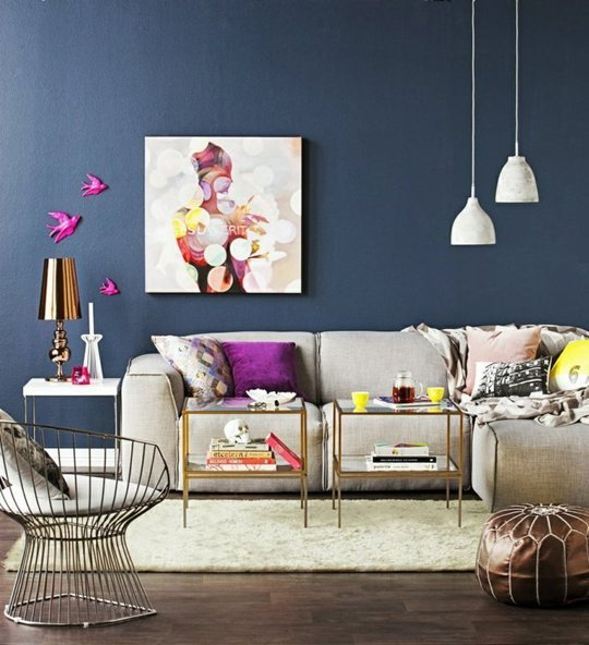 navy blue and gold living room colori per interni le tendenze 2014 stampaestampe it 24849