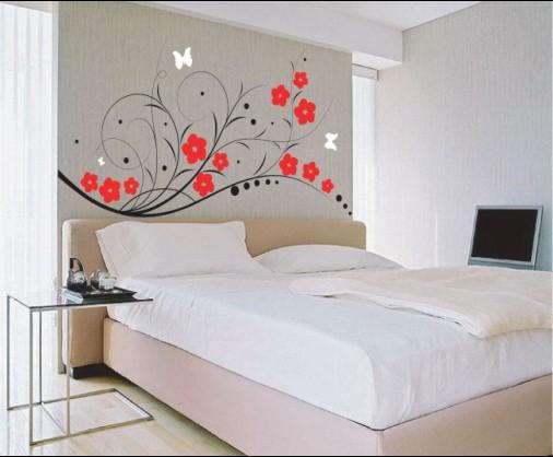 stickers murali in camera da letto