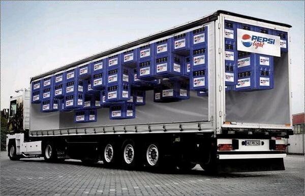 striscioni copertura camion con pubblicita pepsi