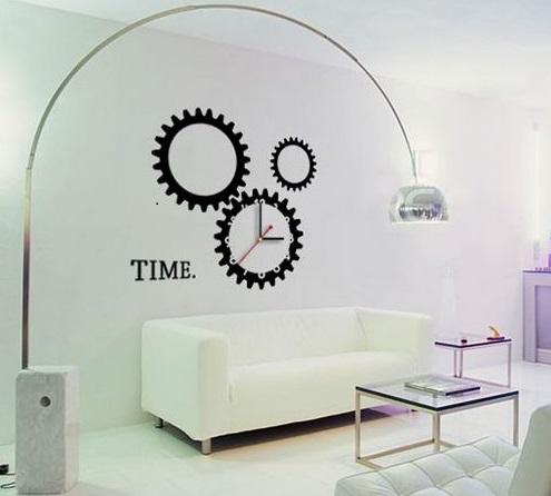 sticker murale con orologio
