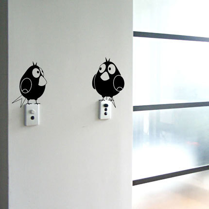 stockers murali uccellini sopra interruttori