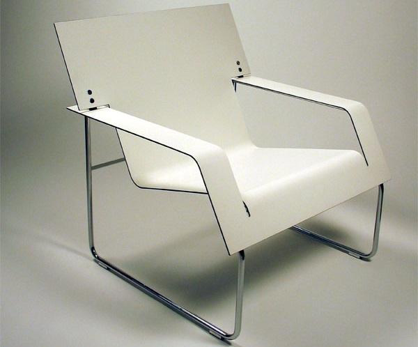sedia realizzata in D-bond