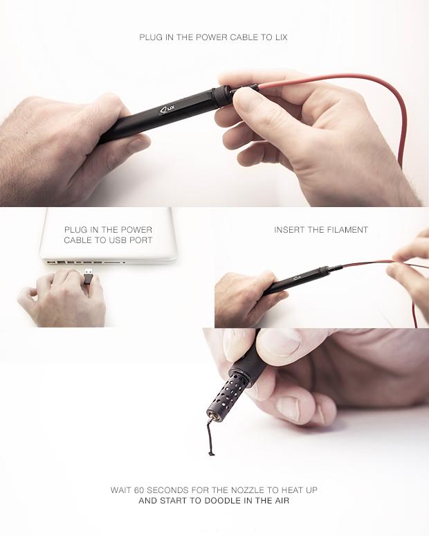 Lix Pen la più piccola stampante 3D del mondo