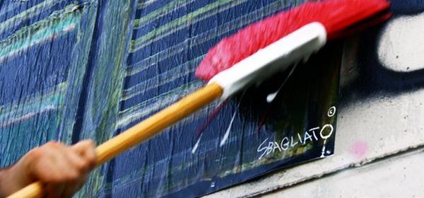 progetto sbagliato affissione murale finta finestra