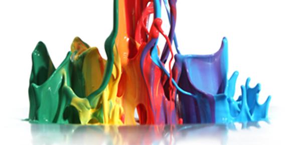 pioggia di vernici colorate