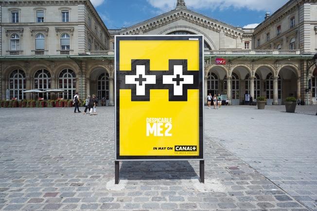 manifesti pubblicitari Canal+