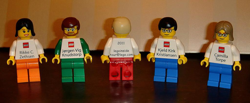 i bellissimi biglietti da visita dei manager Lego