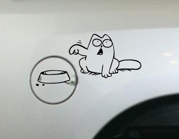 adesivo carrozzeria ciotola del gatto