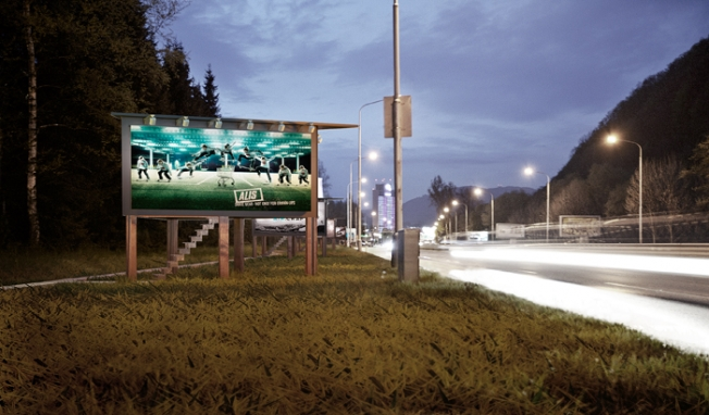 manifesti pubblicitari stradali come abitazione