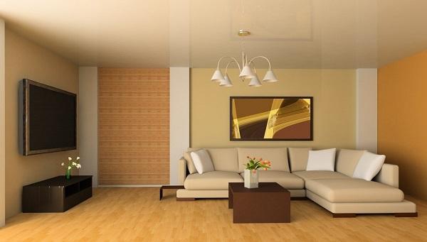 interior design salotto legno
