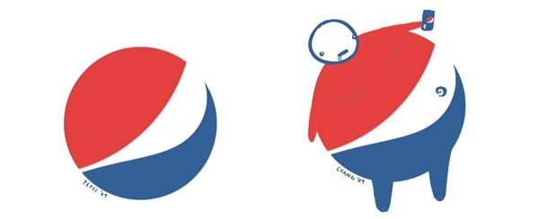 logo pepsi reinterpretazione