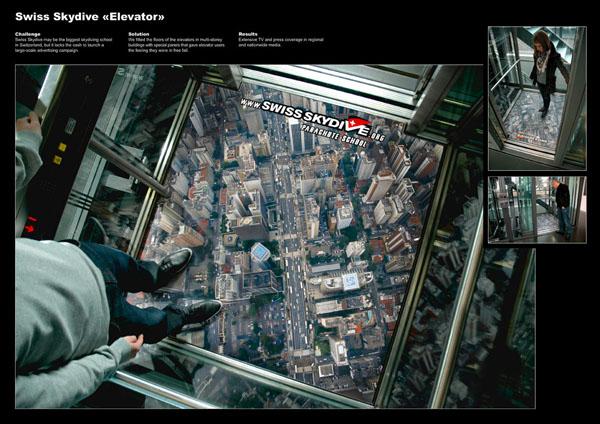 skydive svizzera su ascensore