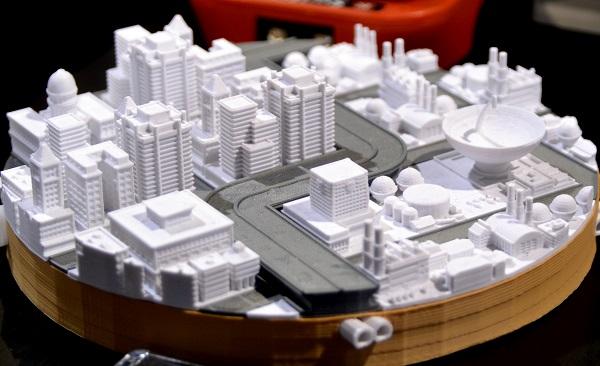 stampa 3d progetto centro abitato