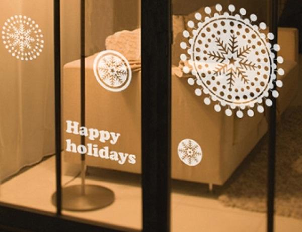 adesivi per vetri con auguri di buone vacanze