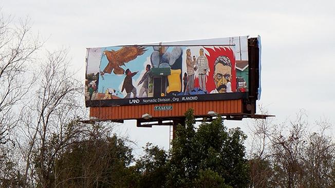 arte su cartellone stradale