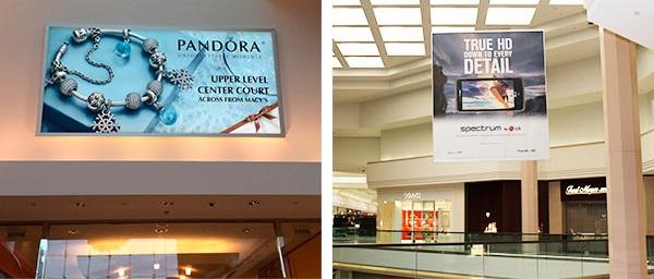 centro commerciale pubblicità spazi interni