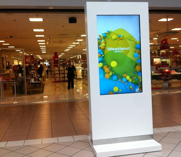 schermo presso centro commerciale
