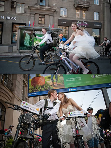matrimonio in bicicletta