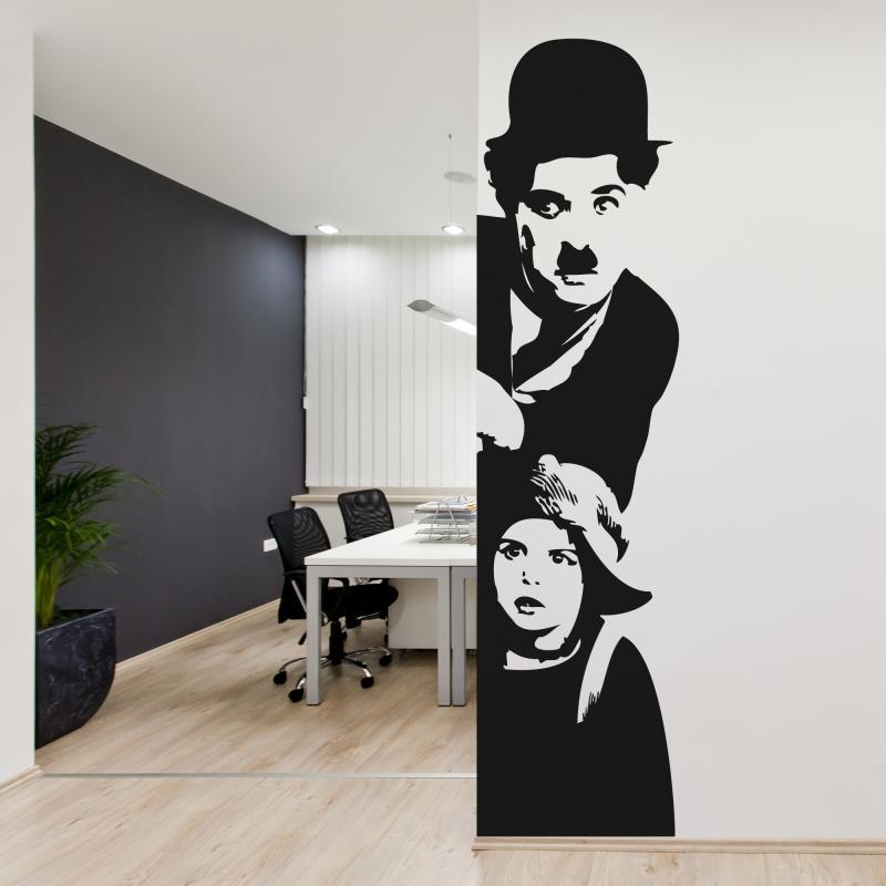 adesivo murale charlie chaplin - il monello