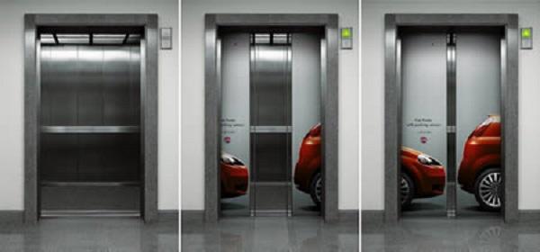 simulazione sensori parcheggio su ascensore