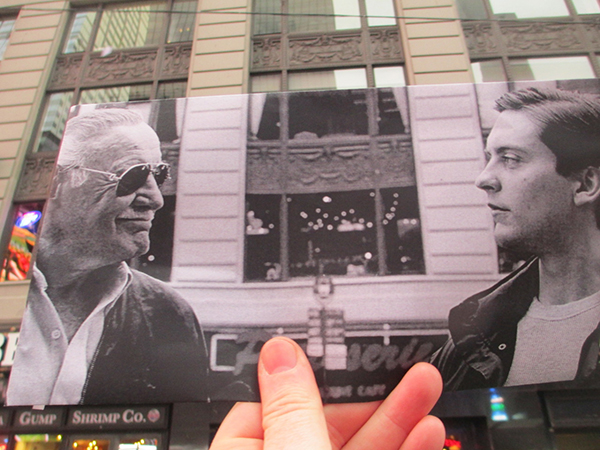 Stan Lee e Toby McGuire in Spiderman