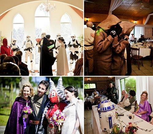 Matrimonio Tema Star Wars : Foto dei matrimoni più pazzi e divertenti della storia