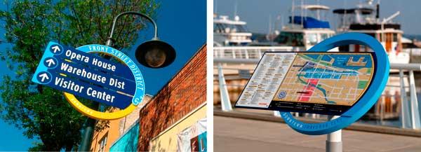 esempi di segnaletiche in città