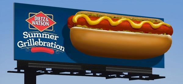 manifesto pubblicitario grande formato hot dog
