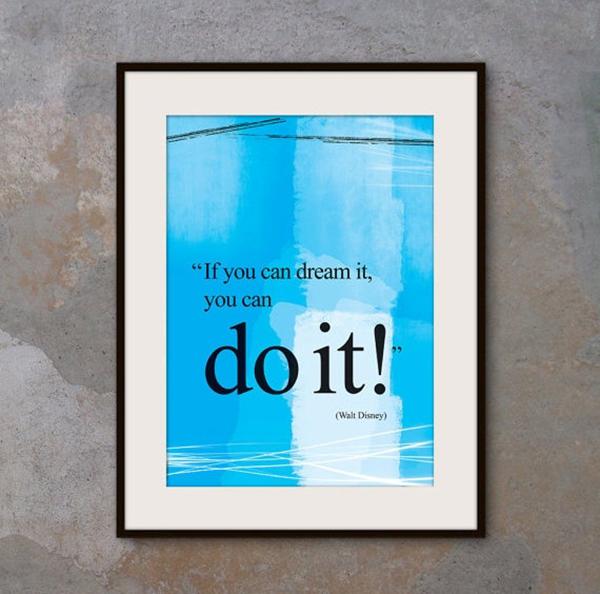 stampa poster HD citazione Walt Disney
