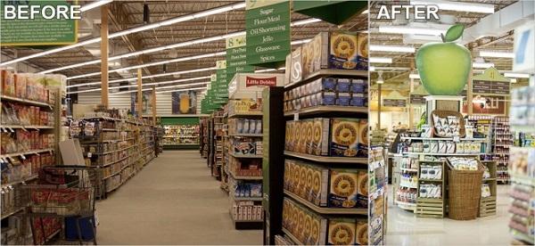 lowes-foods confronto prima e dopo