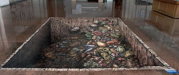 tappeto magico effetto discarica in cucina