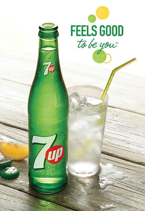 7UP poster pubblicitario