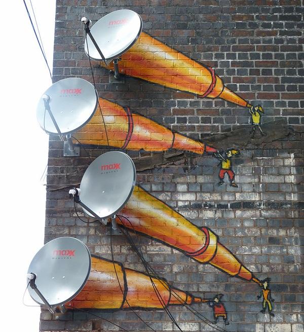 Antenne paraboliche, Birmingham, UK