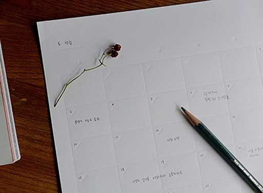 planner stampato senza inchiostro