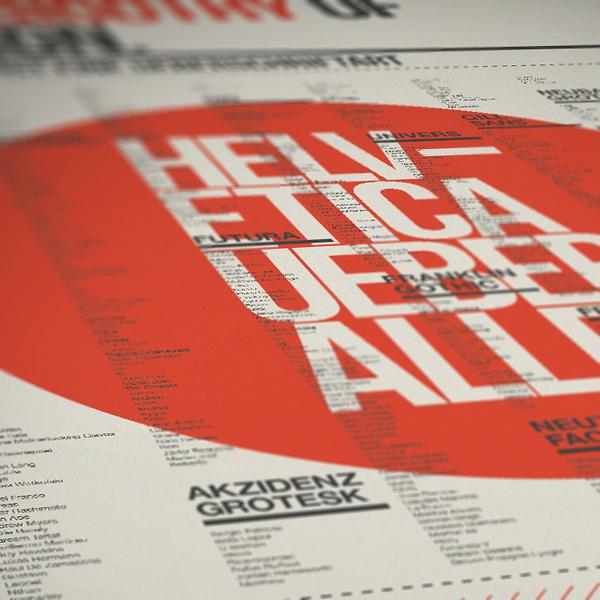 manifesti e poster di font