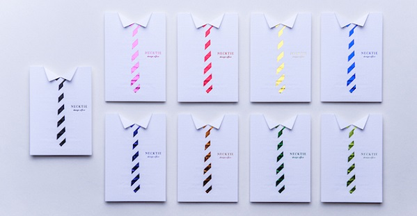 business cards camicia e cravatta