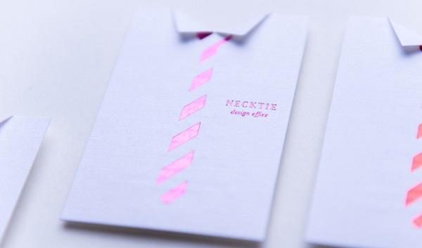 business cards camicia e cravatta