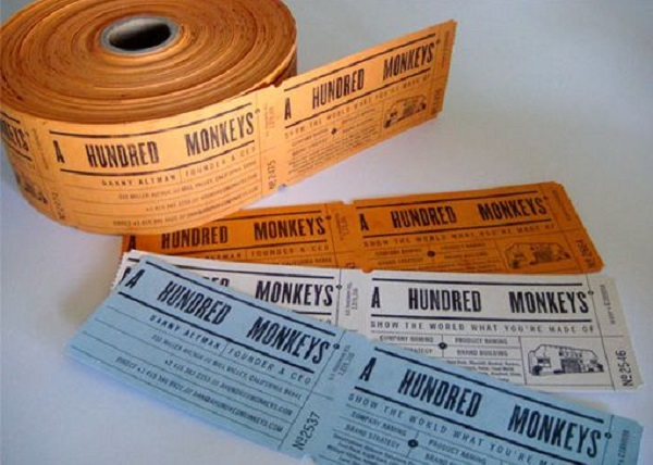 ticket roll business cards