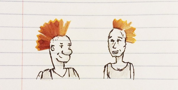 Kristian Mensa capelli punk