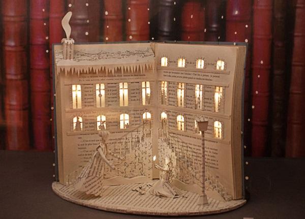 libro scultura - la piccola fiammiferaia