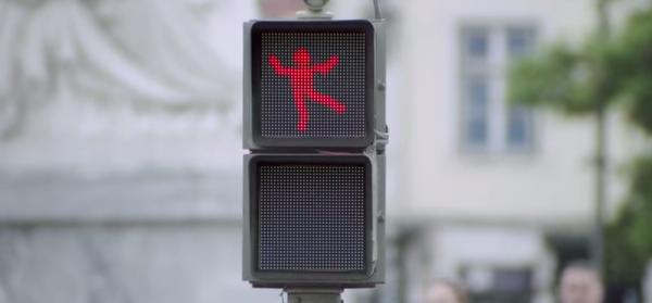 semaforo icona danzante