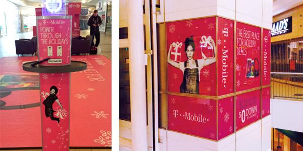 t-mobile allestimento centro commerciale