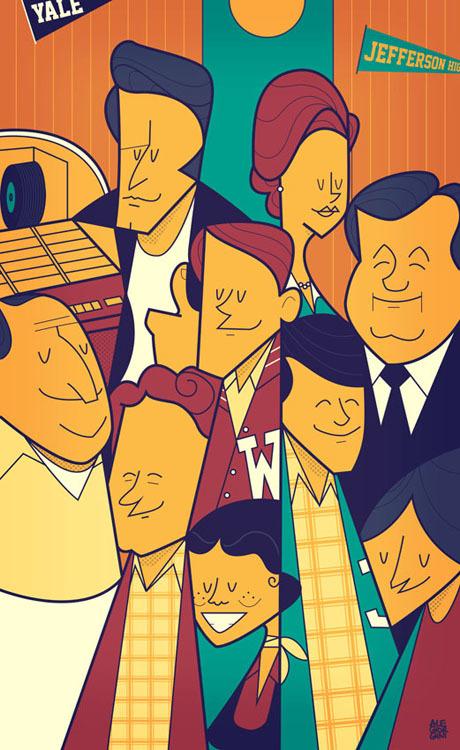 happy days cartoon poster