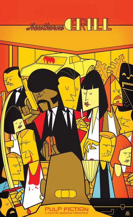 pulp fiction cartoon poster