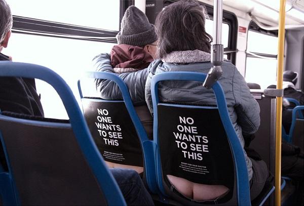 sensibilizzazione cancro colon su autobus