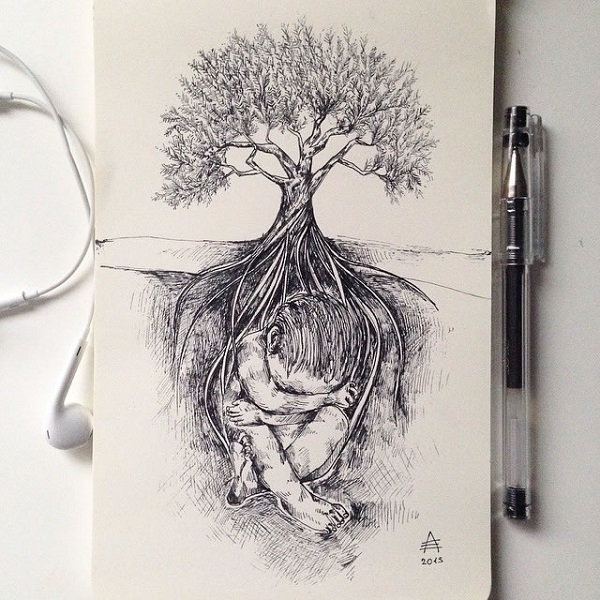 alfred basha albero neonato