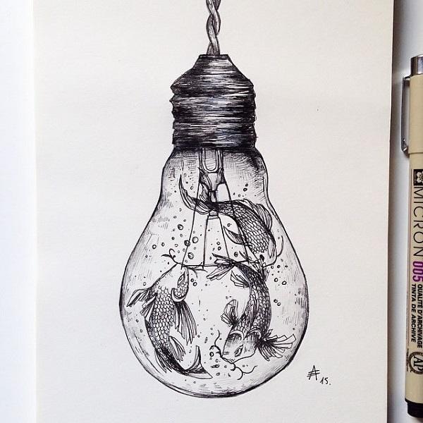 alfred basha lampadina acquario
